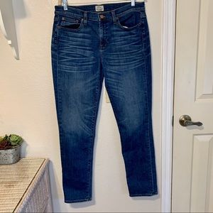 J. Crew Slim Broken In Boyfriend Blue Jeans 30T